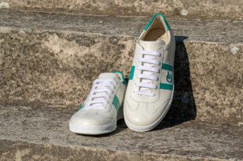 G&T Klasszikus Csontszín - Aloe bőr sportcipő olasz gumitalppal