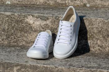 G&T Trend Fehér bőr sneaker cipő