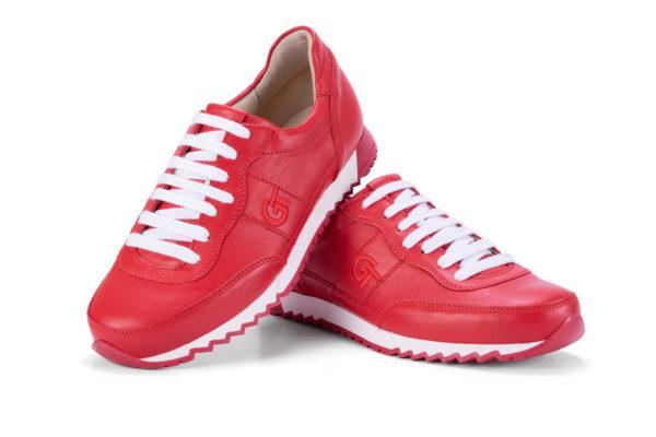 G&T Aktív Full Red bőr sportcipő