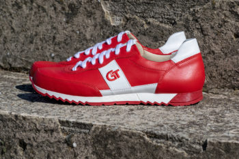 G&T Aktív Piros - Fehér bőr sportcipő