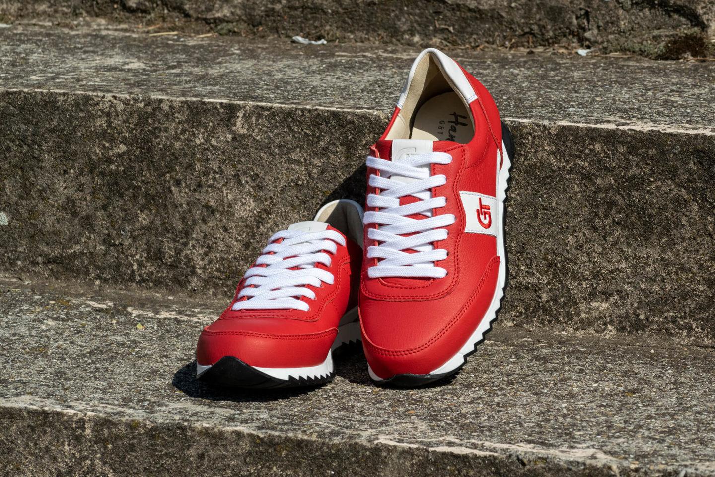 G&T Aktív Piros-Fehér nappa bőr cipő