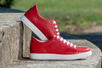 G&T Trend Piros sneaker cipő valódi bőrből