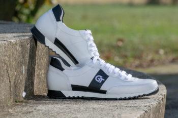 G&T Aktív Fehér - Fekete bőr sportcipő