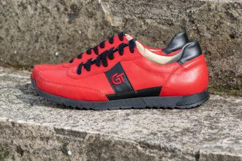 G&T Aktív Piros - Fekete bőr sportcipő