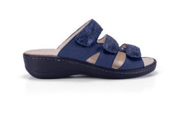 G&T Anna Kék Csillám Mozaik bőr kényelmi papucs