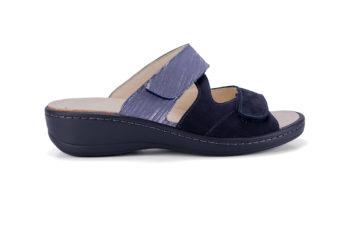 G&T Ivett Kék - Misztik mozaik bőr kényelmi papucs
