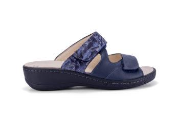 G&T Ivett Óceán Kék Virág Mozaik bőr kényelmi papucs