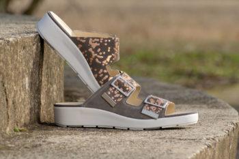 G&T Bianka Szürke - Bronz pettyes női kényelmi papucs