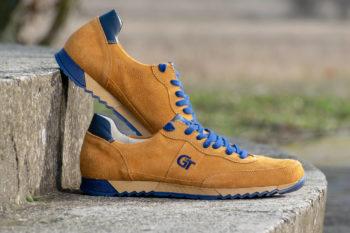 G&T Aktív Mustár - Óceán bőr sportcipő