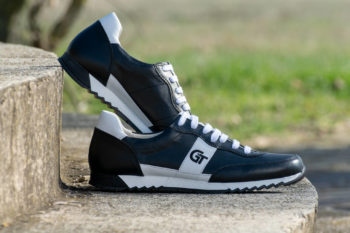 G&T Aktív Fekete - Fehér bőr sportcipő
