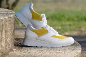 G&T Alina Fehér - Ezüst - Sárga női bőrcipő