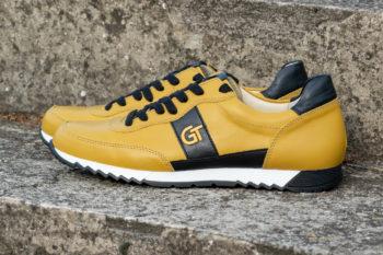 G&T Aktív Okker - Fekete bőr sportcipő