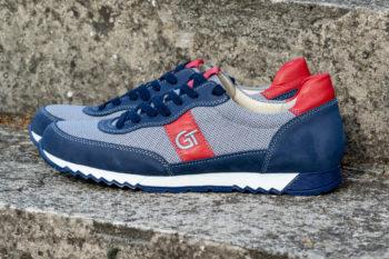 G&T Aktív Szürke Textil - Óceán - Piros sportcipő textil felsőrésszel
