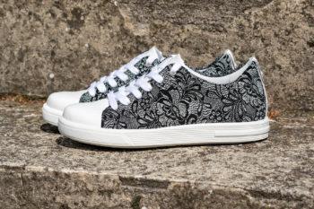 G&T Trend Fekete Csipke - Fehér női sneaker cipő