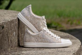 G&T Trend Plusz Krém Pettyes női bőr sneaker cipő