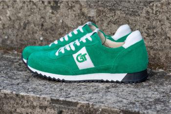 G&T Aktív Zöld velúr - Fehér bőr sportcipő