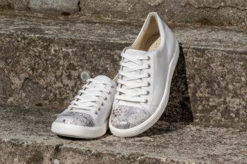 G&T Trend Plusz Fehér Piton női bőr sneaker cipő
