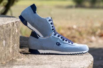 G&T Aktív Acélkék velúr - Óceán bőr sportcipő