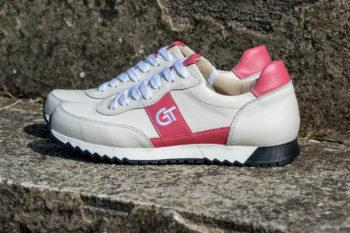 G&T Aktív Csontszín - Mályva bőr sportcipő