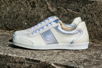G&T Pro-20 Csontszín - Ezüst bőr sportcipő