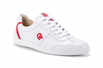 G&T Pro-20 Fehér - Piros bőr sportcipő