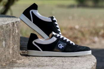 G&T Pro-20 Fekete - Fehér bőr sportcipő