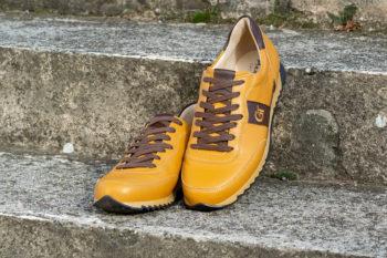 G&T Aktív Mustár - Sziena nappa bőr sportcipő