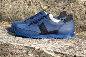 G&T Aktív Óceán - Fekete nubuk bőr sportcipő