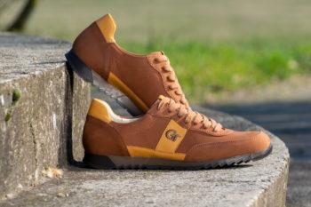 G&T Aktív Rozsda - Mustár bőr sportcipő