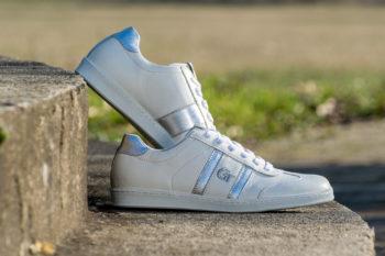 G&T Klasszikus Fehér - Ezüst bőr sportcipő