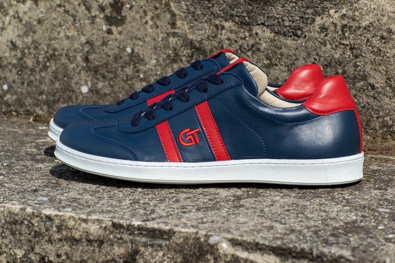 G&T Klasszikus Óceán - Piros nappa bőr sportcipő