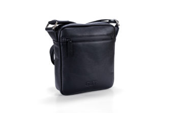 G&T Férfi táska fekete nappa bőrből
