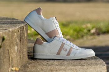 G&T Klasszikus Fehér Barkás - Púder bőr sportcipő