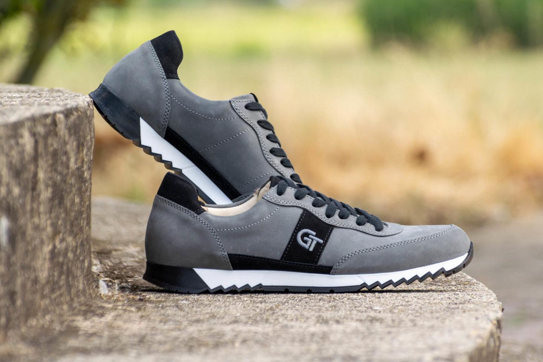 G&T Aktív Szürke - Fekete nubuk bőr sportcipő