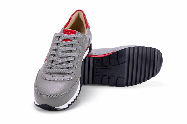 G&T Aktív Szürke - Piros bőr sportcipő
