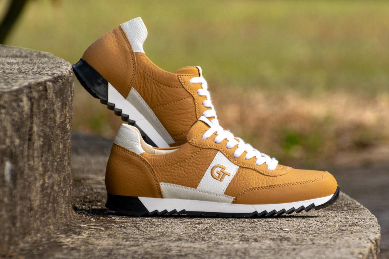 G&T Aktív Camel - Fehér nappa bőr sportcipő