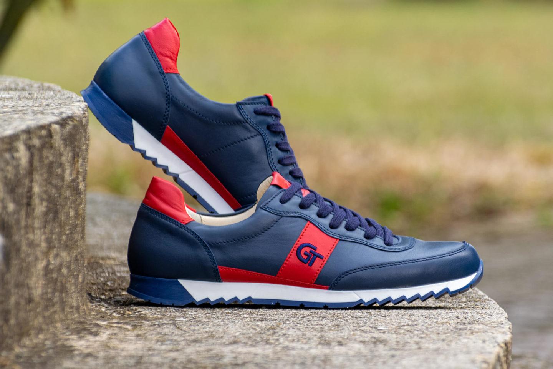G&T Aktív Óceán - Piros bőr sportcipő