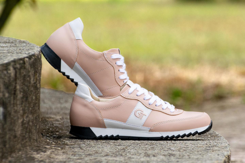 G&T Aktív Púder - Fehér női bőr sportcipő