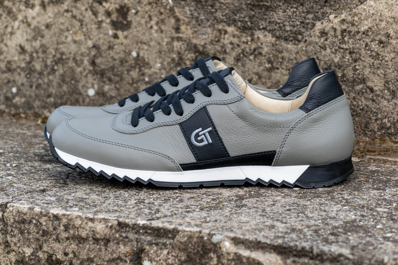 G&T Aktív Szürke - Fekete nappa bőr sportcipő