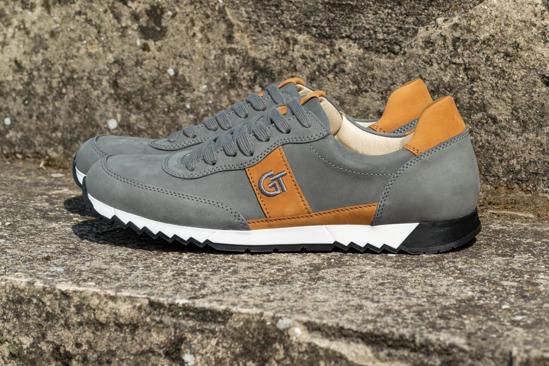 G&T Aktív Szürke - Szahara nubuk bőr sportcipő