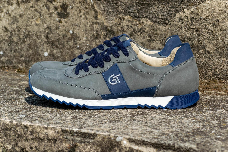 G&T Aktív Szürke - Óceán nubuk bőr sportcipő