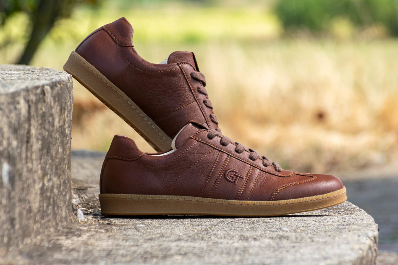 G&T Klasszikus Sziena barkás nappa bőr sportcipő
